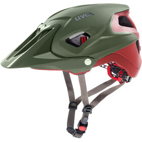 UVEX Quatro Integrale - Casque de vélo - rouge/olive